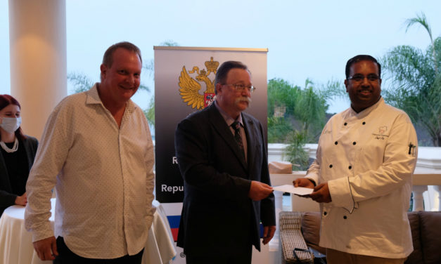 "Russian Embassy in Pretoria Handed Over the Proceeds from the Charity Auction to ""Chefs with Compassion"" organization"